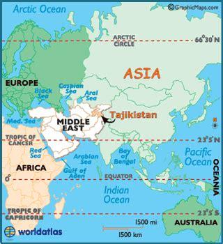 tajikistan map / geography of tajikistan / map of