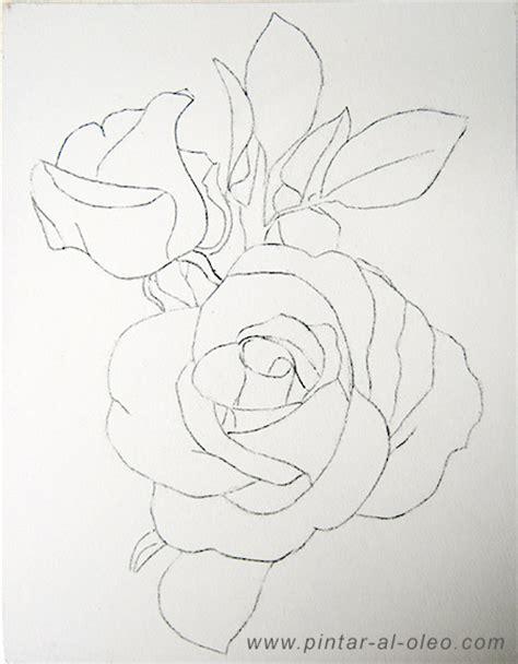 Imagenes Para Dibujar En Lienzo Faciles | como dibujar una rosa cuadr 237 cula pintar al 243 leo