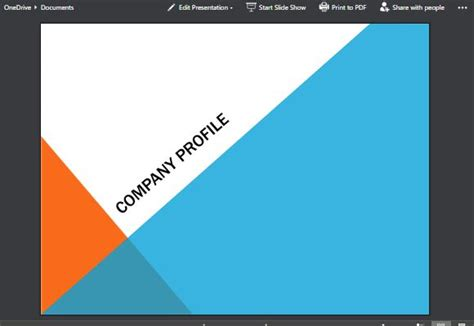 Angles Modern Background Powerpoint Template Blue And Orange Powerpoint Template