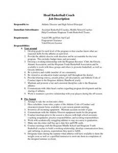 Sle Resume For High School Basketball Coach Coach Resume Sales Coach Lewesmr