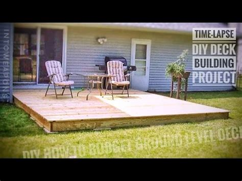 diy deck time lapse: building a ground level deck! youtube