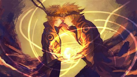 anime best naruto and his father minato wallpaper and background