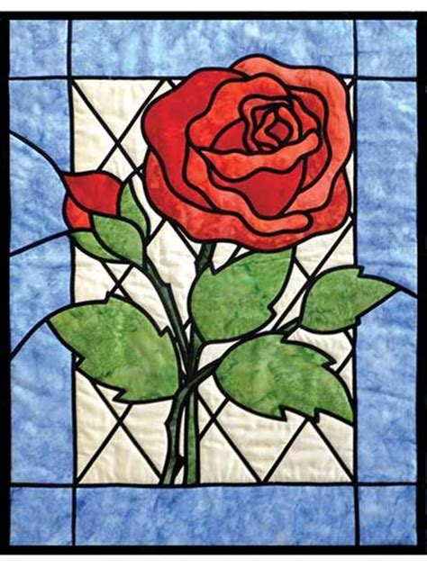 Stained Glass Patchwork Patterns - stained glass quilt pattern quilting inspiration
