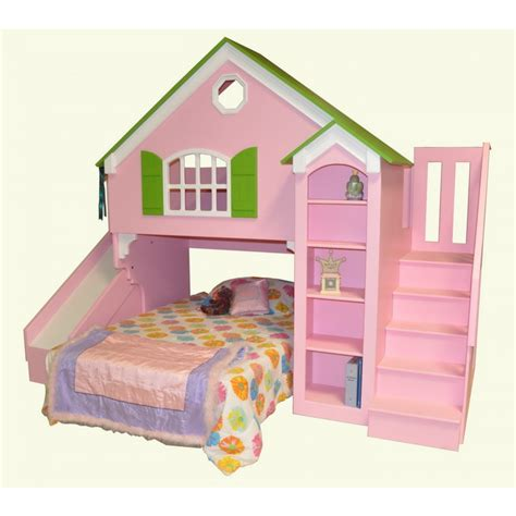 Toddler Bunk Bed With Slide Doll House Bed Home Dollhouse Loft Bed Custom