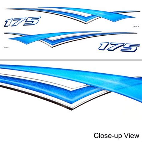 boat manufacturer decals us marine 175 decal 1820065 1820066 40 x 4 inch set of