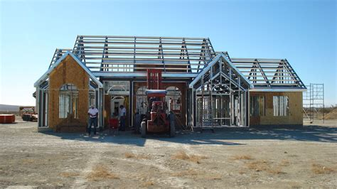 building a frame house light steel framing google search steel frame