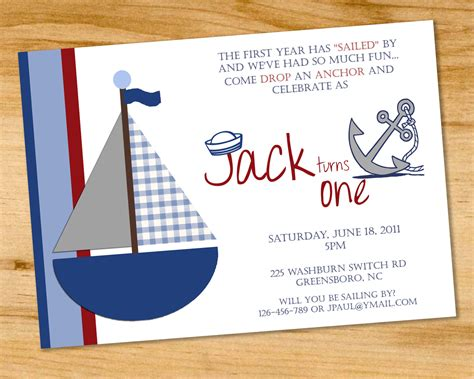 themed invitations template sailboat nautical birthday invitation by paperclutchshop
