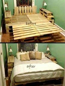 Bed Ideas Recycled Wood Pallet Bed Ideas Pallet Wood Projects