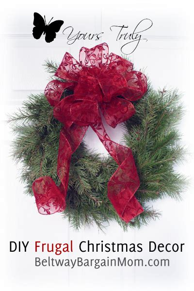 frugal christmas decorations tutorial beltway bargain