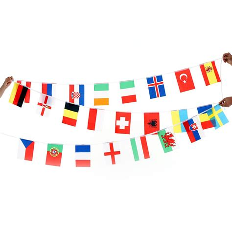 flags of the world banner 2017 anself 2016 european cup 24 countries world string