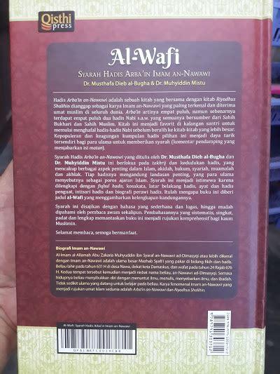 Al Wafi Syarah Hadist Arbain Imam An Nawawi buku al wafi syarah hadis arbain imam an nawawi toko