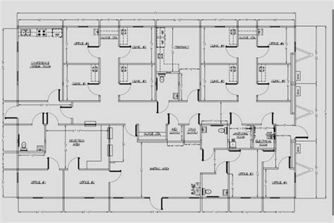 medical office floor plan wilkins builders modular buildings healthcare and medical