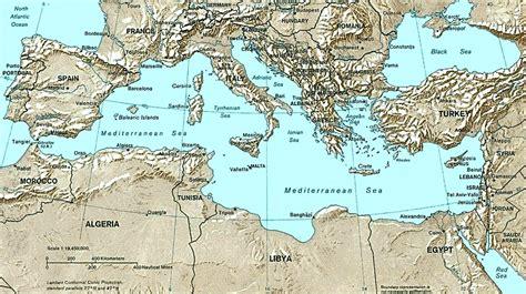 mediterranean port call maps - Küche Mediterran