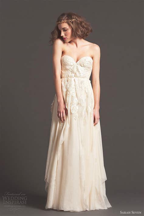 Dress Seven seven seven fall 2013 cascade strapless wedding dress size 2 wedding dress oncewed