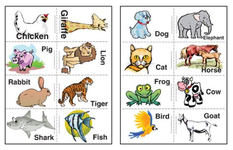 printable flash cards of animals 7 best images of printable animal flash cards kids flash