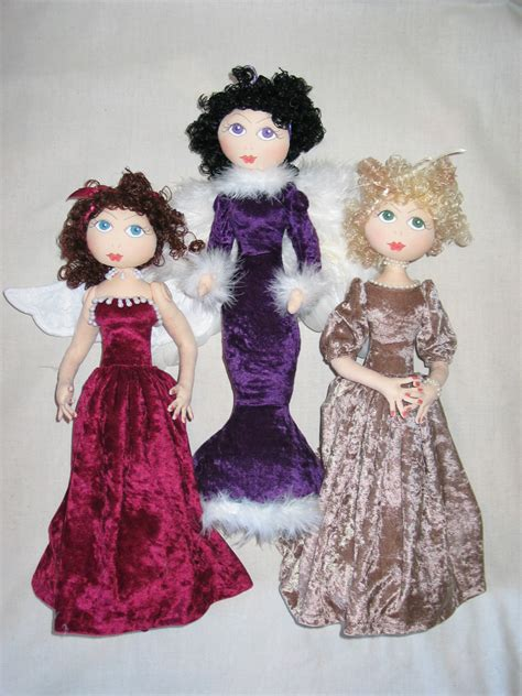 cloth doll designers cloth doll pattern a host of an angelic