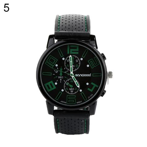 Fashionable Stainless Steel Silicone Band Quartz Jw045 1 Bla s quartz analog silicone band stainless steel sports wrist ebay