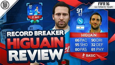 reset online record fifa 16 record breaker 91 higuain player review fifa 16