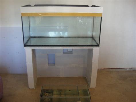 fabrication meuble aquarium siporex