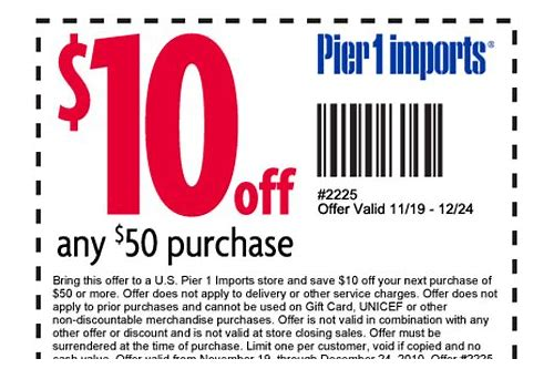 pier 1 coupons usa