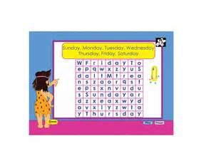days of the week worksheet kindergarten worksheet