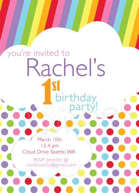 taste the rainbow invitation