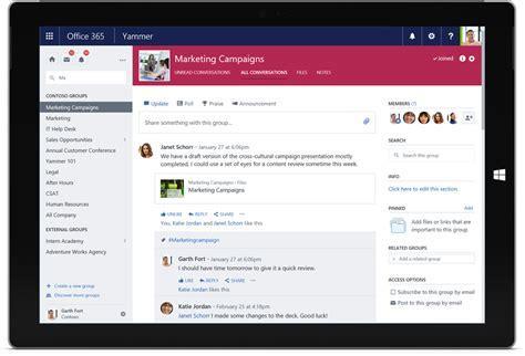 Office Yammer Yammer Enterprise Social Network Microsoft Office 365
