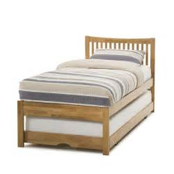 hevea single bed hideaway guest bed hardwood honey oak ebay
