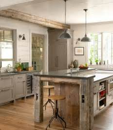 Barnwood Kitchen Island Tg Interiors The New Country Kitchen Meets Industrial