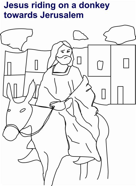 jesus is going to jerusalam on a donkey in jesus