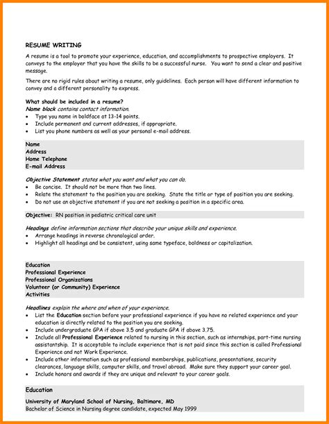 writing an objective in a resume 3 how to write a general resume lease template