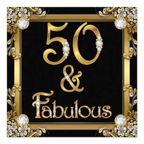 Be Fabulous 50 golden fabulous 50 birthday gold card 50