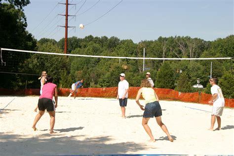 backyard volleyball outdoor volleyball at nottaway park vienna va we set