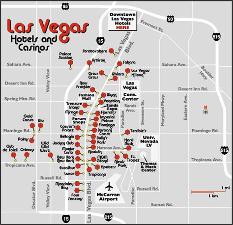 map of casinos in usa map of las vegas hotels and casinos las vegas hotels and