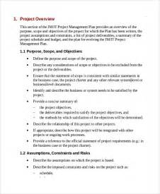 sample it project plan template 6 free documents