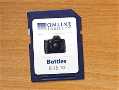 sd card label template sd card labels create custom labels for your sdhc memory