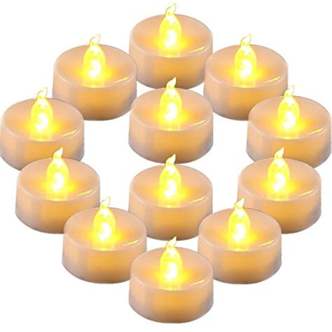Homemory Battery Operated Led Tea Lights Pack Of Homemory Flameless Led Tea Lights Yellow Light Bulb Pack Of 12 Battery Operated Votive