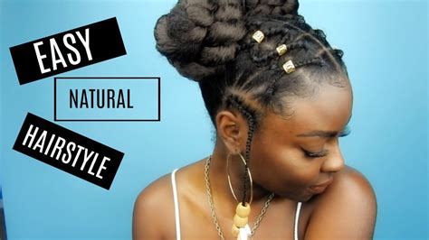 natural hairstyle criss cross rubber band braids