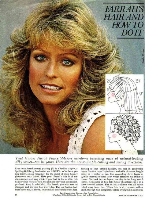 farrah fawcett haircut farrah fawcett haircut and styling instructions woohoo
