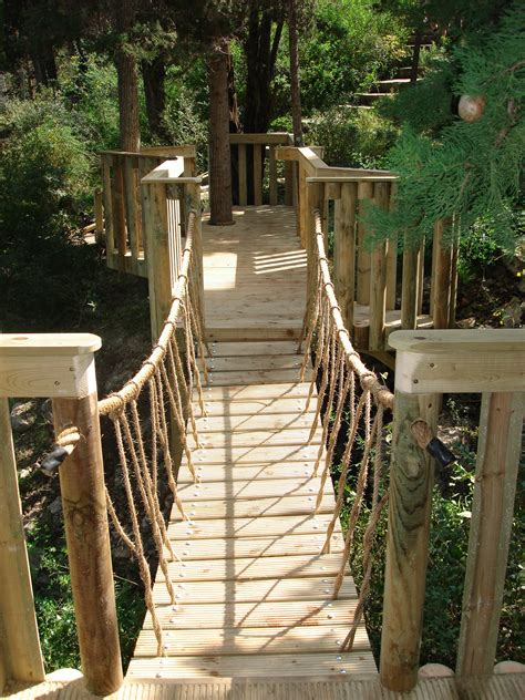 backyard rope bridge easy simple tree house plans rope railing for