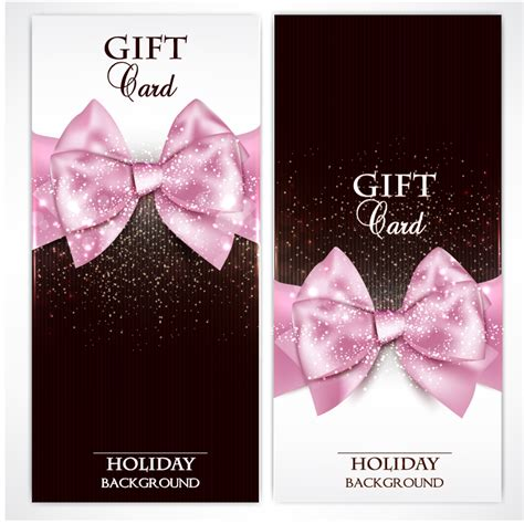 Modells Gift Cards - 2 pink bow gift cards vector material over millions vectors stock photos hd