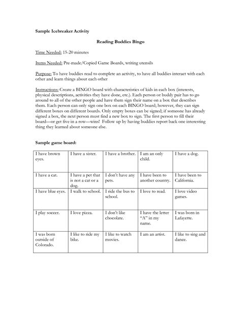 icebreaker template 19 best images of classroom scavenger hunt icebreaker