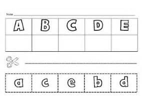 letter matching cut and paste alphabet activities