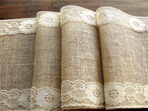 burlap table runner with lace burlap and lace table runner wedding table runner