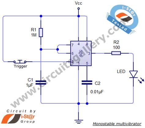resistor calculator for 555 timer 555 timer monostable calculator for monostable multivibrator circuits gallery