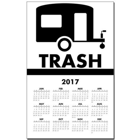 Calendar Trash Trailer Trash Calendar Print By Minotaurdesigns