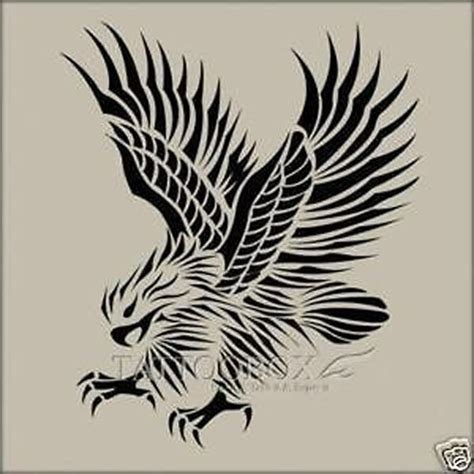 eagle tattoo stencil reusable airbrush stencils templates eagle large size