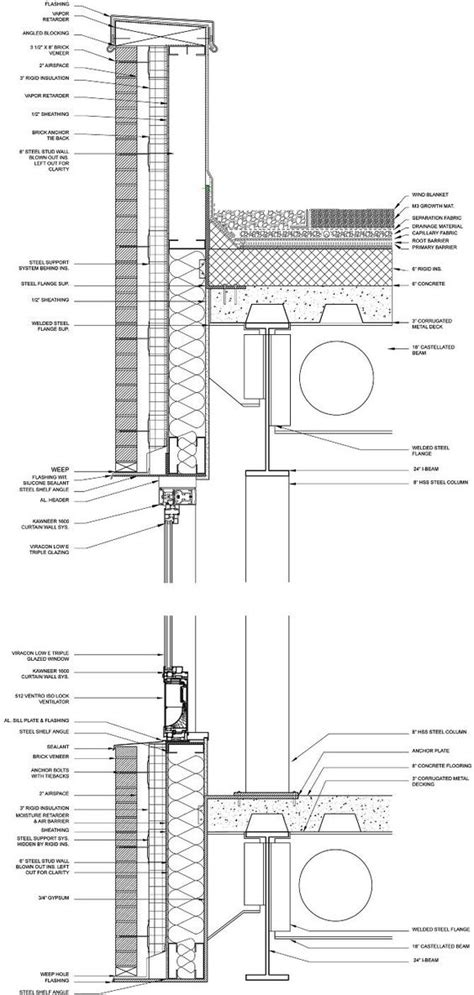 w section curtain wall detail bing images architecture details