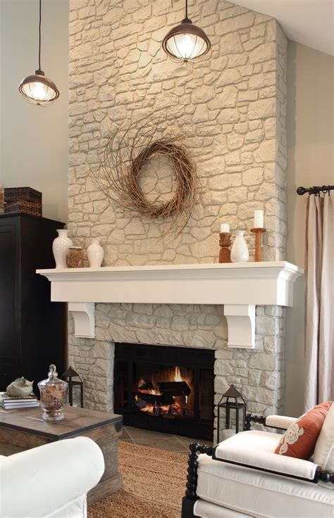 white fireplace on fireplace and mantel likes the two colors of white would paint