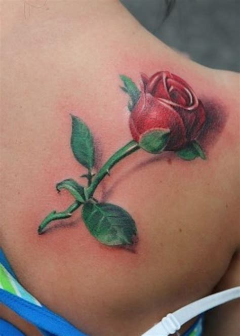 rose bud tattoos 3d flower tattoos ideas on shoulder ideas